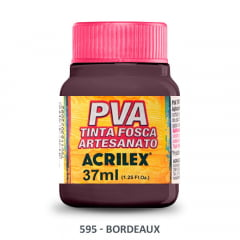 Tinta Pva Fosca para Artesanato 595 Bordeaux 37 ml