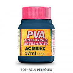 Tinta Pva Fosca para Artesanato 596 Azul Petróleo 37 ml