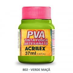 Tinta Pva Fosca para Artesanato 802 Verde Maça 37 ml