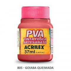 Tinta Pva Fosca para Artesanato 805 Goiaba Queimada 37 ml