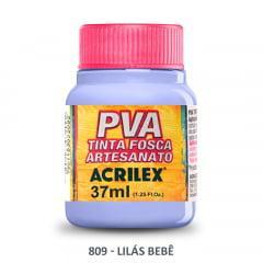 Tinta Pva Fosca para Artesanato 809 Lilás Bebê 37 ml