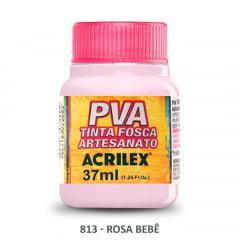 Tinta Pva Fosca para Artesanato 813 Rosa Bebê 37 ml