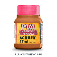 Tinta Pva Fosca para Artesanato 815 Castanho Claro 37 ml