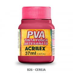 Tinta Pva Fosca para Artesanato 826 Cereja 37 ml