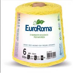 Barbante EuroRoma Nº6 Amarelo Bebê 600 Gramas