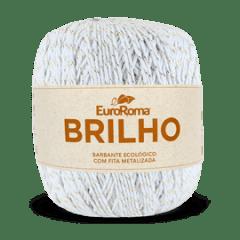 Barbante Euroroma Nº6 200 Branco Brilho Ouro 400 Gr