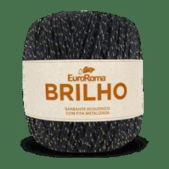 Barbante Euroroma Nº6 250 Preto Brilho Ouro 400 Gr