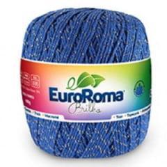 Barbante Euroroma Nº6 903 Azul Royal Brilho Ouro 400 Gr