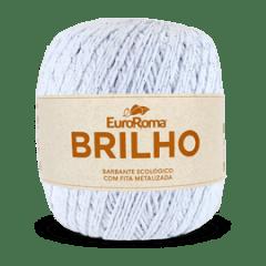 Barbante Euroroma Nº6 200 Branco Brilho Prata 400 Gr