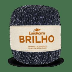 Barbante Euroroma Nº6 250 Preto Brilho Prata 400 Gr