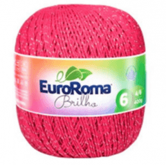Barbante Euroroma Nº6 550 Pink Brilho Prata 400 Gr