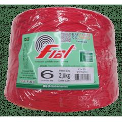 Barbante Fial 79 Vermelho  nº6 2 kg