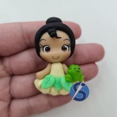 Aplique de Biscuit Princesa Tiana