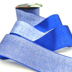 Fita Decorativa Azul Bic Glitter 38mm