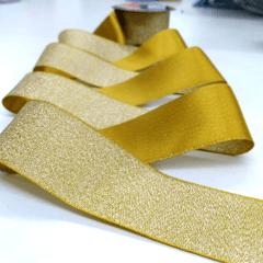 Fita Decorativa Dourado Golden Glitter 38mm