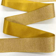 Fita Decorativa Dourado Golden Glitter 38mm