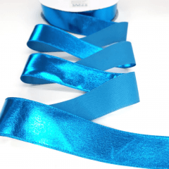 Fita Metalizada Azul Turquesa Por Metro