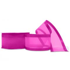 Fitas De Voal Pink  Borda Cetim 38 mm