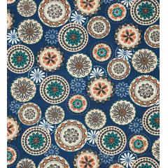 Tecido Impermeável Belize Estampado Azul Floral Geométrico