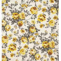 Tecido Impermeável Belize Estampado Floral Amarelo