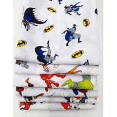 Kit Tecido Tricoline Misto Super Heróis