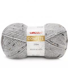 Lã Confete Círculo 8045 Perla 100g