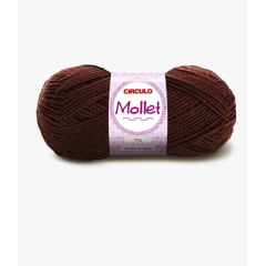 Lã Mollet Círculo 608 Chocolate 40gr