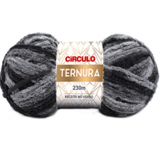 Lã Ternura 4045 Mescla Cinza 100g
