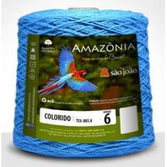 Barbante São João Amazônia Nº 6 Cor 2 Azul Turquesa  600g