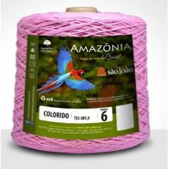 Barbante São João Amazônia Nº 6 Cor 7 Rosa Claro 600g