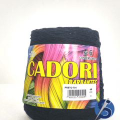 Barbante Cadori Preto Nº6 701 700 g