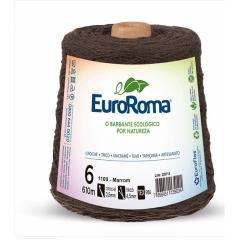 Barbante EuroRoma nº6 Marrom 600gr