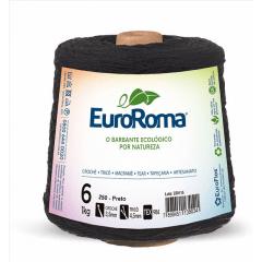Barbante EuroRoma Nº6 Preto 600 Gramas