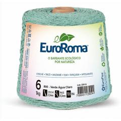 Barbante EuroRoma nº6 Verde Água Claro 600gr