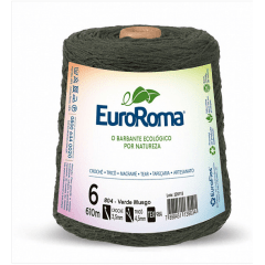 Barbante EuroRoma nº6 Verde Musgo 600gr