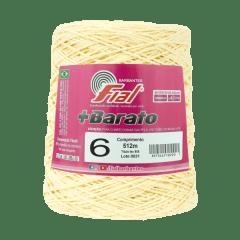 Barbante Fial + Barato 101 Amarelo Claro nº6 512 metros