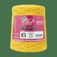 Barbante Fial + Barato 114 Amarelo Ouro nº6 512 metros