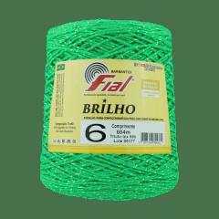 Barbante Fial Brilho Dourado 47 Verde Bandeira nº6 604 metros
