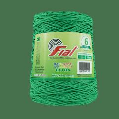 Barbante Fial Nº6 Colorido Extra 47 Verde Bandeira 400 g