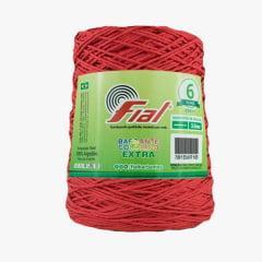 Barbante Fial Nº6 Colorido Extra 79 Vermelho 400 g
