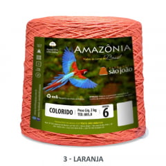 Barbante São João Amazônia 03 Laranja Nº 6 2kg