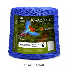 Barbante São João Amazônia 06 Azul Royal Nº 6 2kg