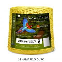 Barbante São João Amazônia 14 Amarelo Ouro Nº 6 2kg