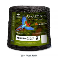 Barbante São João Amazônia 15 Marrom Nº 6 2kg