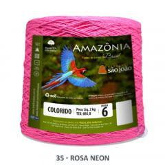 Barbante São João Amazônia 35 Rosa Neon Nº 6  2kg