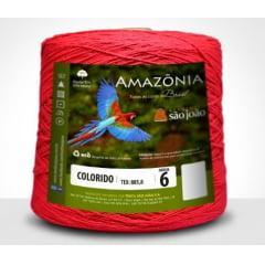 Barbante São João Amazônia Nº 6 Cor 13 Vermelho 600g