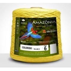Barbante São João Amazônia Nº 6 Cor 14 Amarelo Ouro 600g