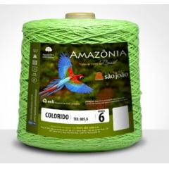 Barbante São João Amazônia Nº 6 Cor 20 Verde Limão 600g
