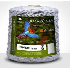 Barbante São João Amazônia Nº 6 Cor 26 Cinza Mescla 600g