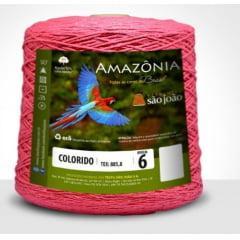 Barbante São João Amazônia Nº 6 Cor 27 Goiaba 600g